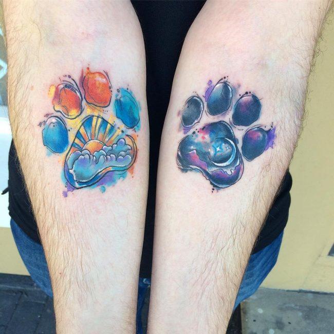 Paw Print Tattoo 74