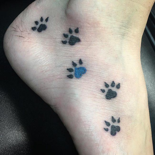 Paw Print Tattoo 77