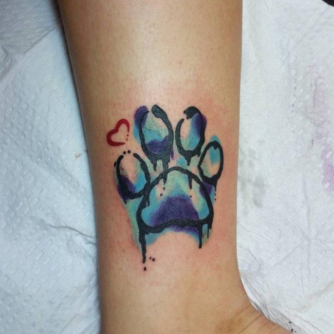 Paw Print Tattoo 78