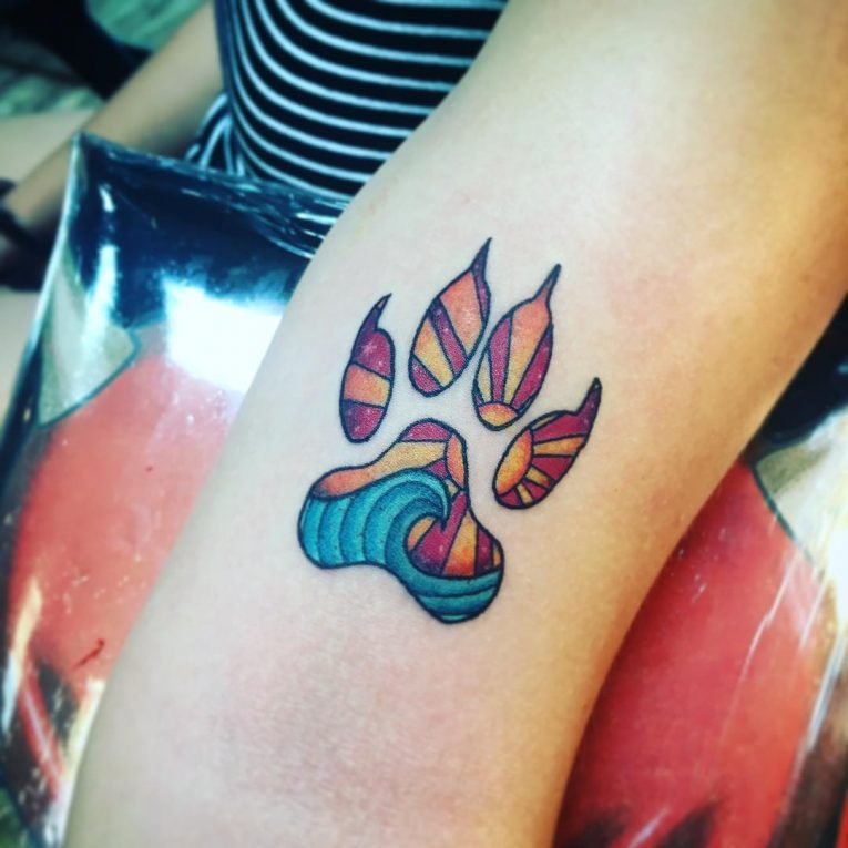 Paw Print Tattoo 90
