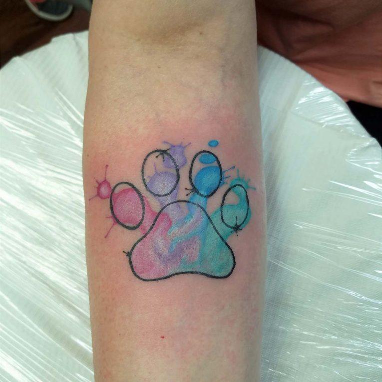 Paw Print Tattoo 92