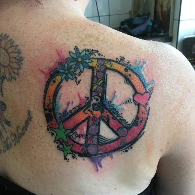 Peace Sign Tattoo 36