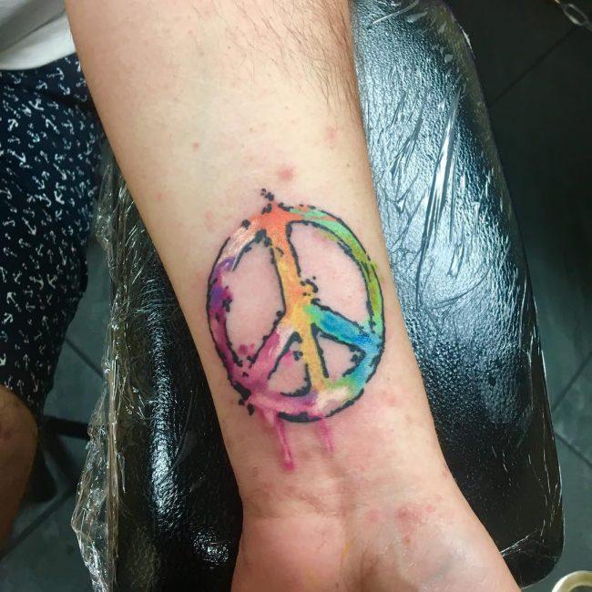 Peace Sign Tattoo 37