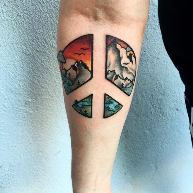 Peace Sign Tattoo 39