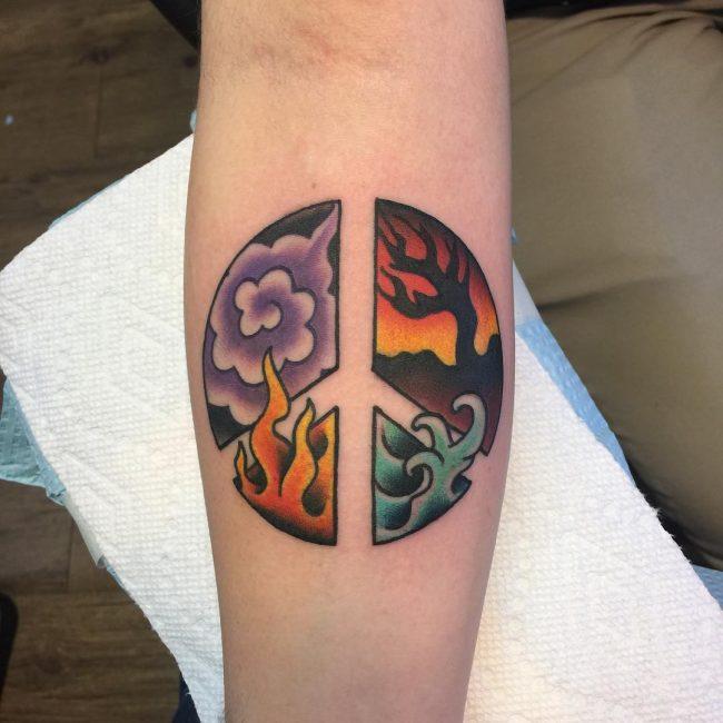Peace Sign Tattoo 40