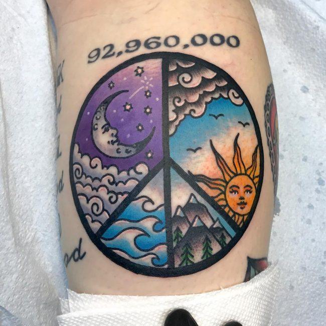 Peace Sign Tattoo 43
