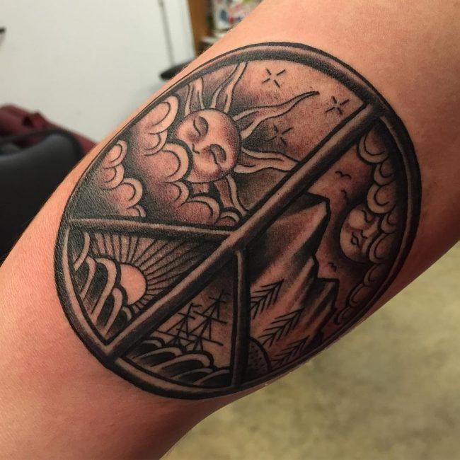 Peace Sign Tattoo 45