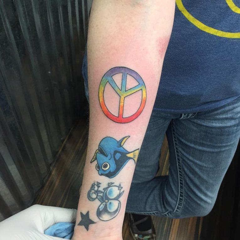 Peace Sign Tattoo 50