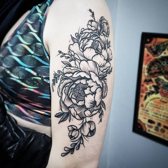 Peony Tattoo 71