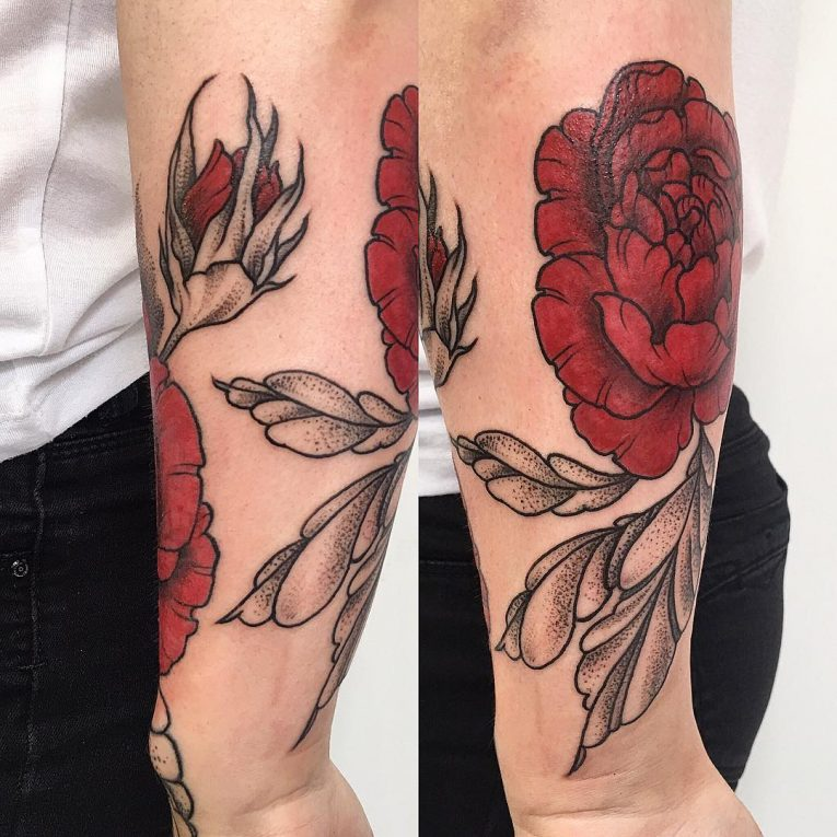 Peony Tattoo 76