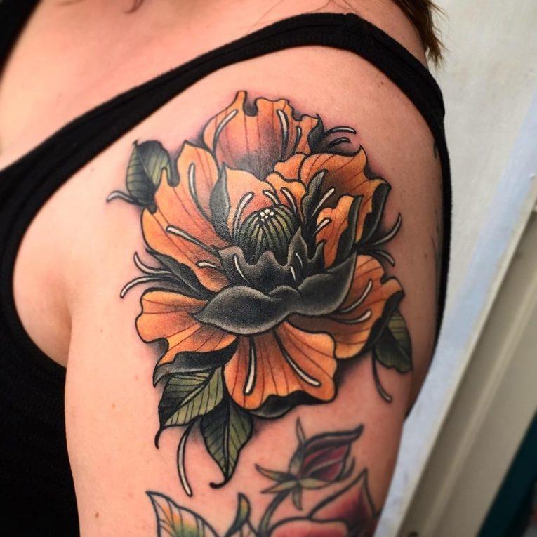 Peony Tattoo 82