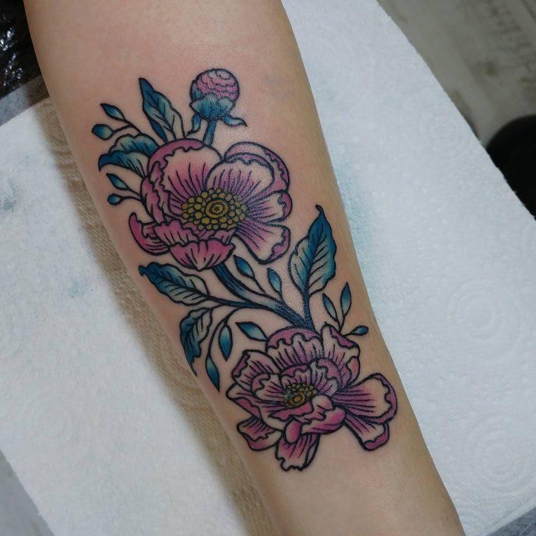Peony Tattoo 86
