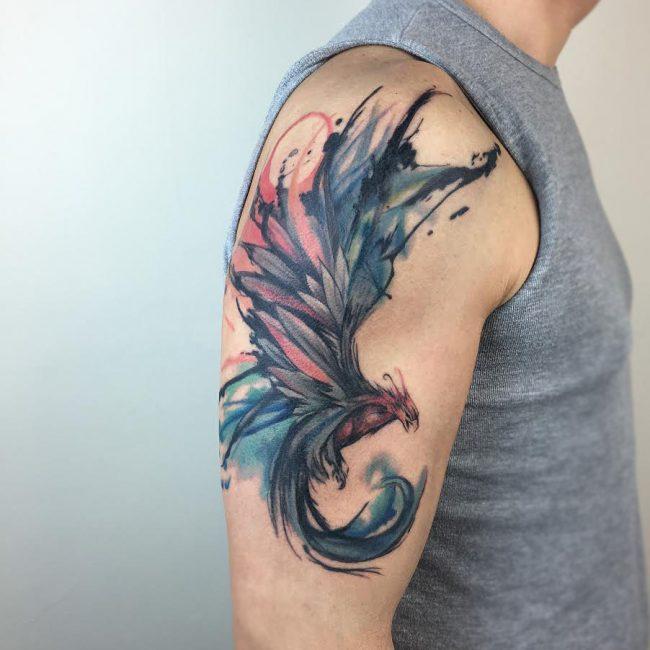 80 Best Phoenix Tattoo Designs Meanings Mysterious Bird 2019