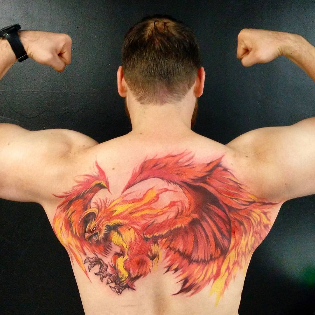 Unique Phoenix Tattoo Designs