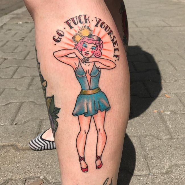a40c7e4aef1ef 90+ Best PinUp Tattoo Girl Designs & Meanings - (Add Style in 2019)