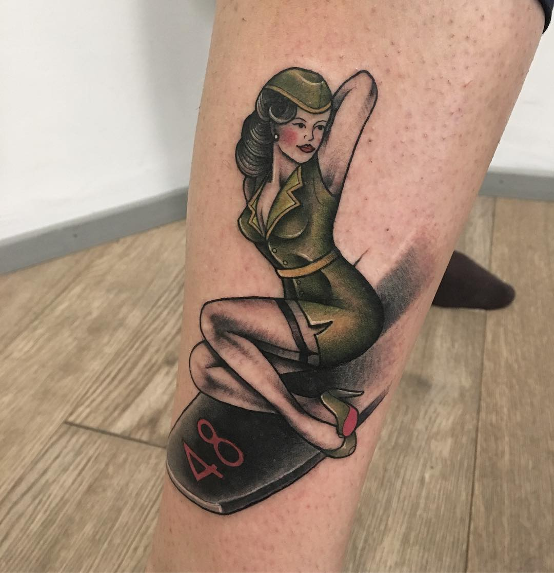 Pin By Mirza Ribic On Tattoo Ideas: 90+ Best PinUp Tattoo Girl Designs & Meanings