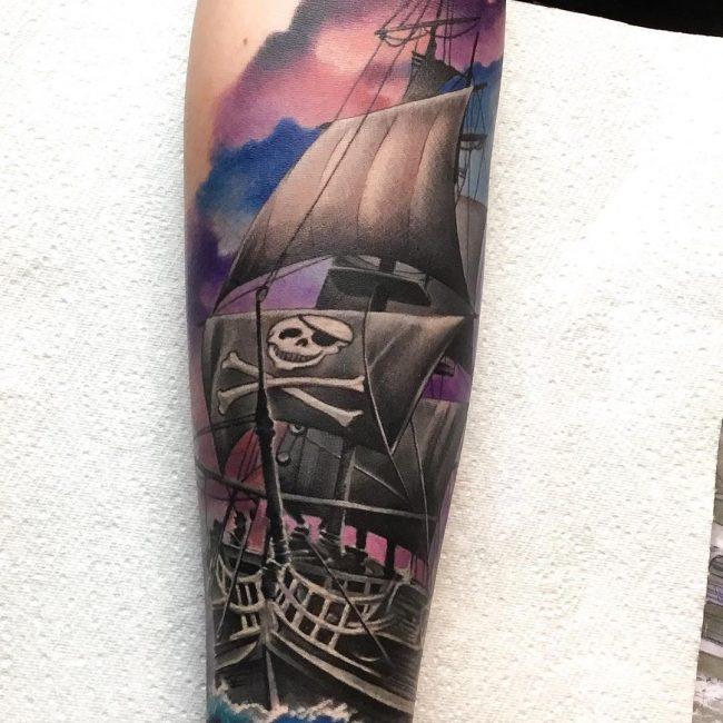 Pirate Ship Tattoo 83