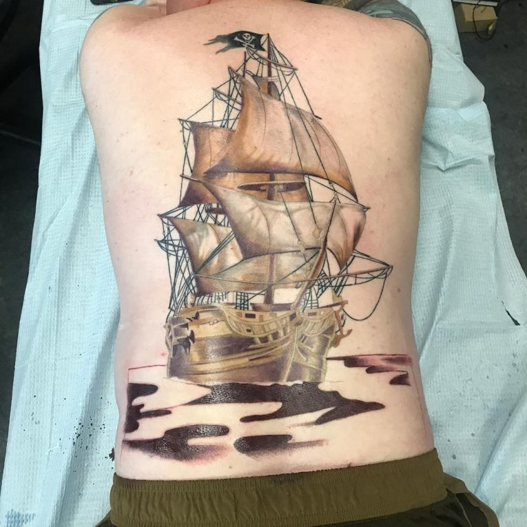 Pirate Ship Tattoo 86