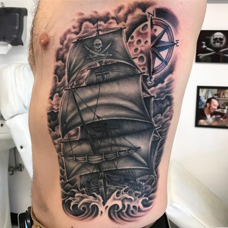 Pirate Ship Tattoo 87