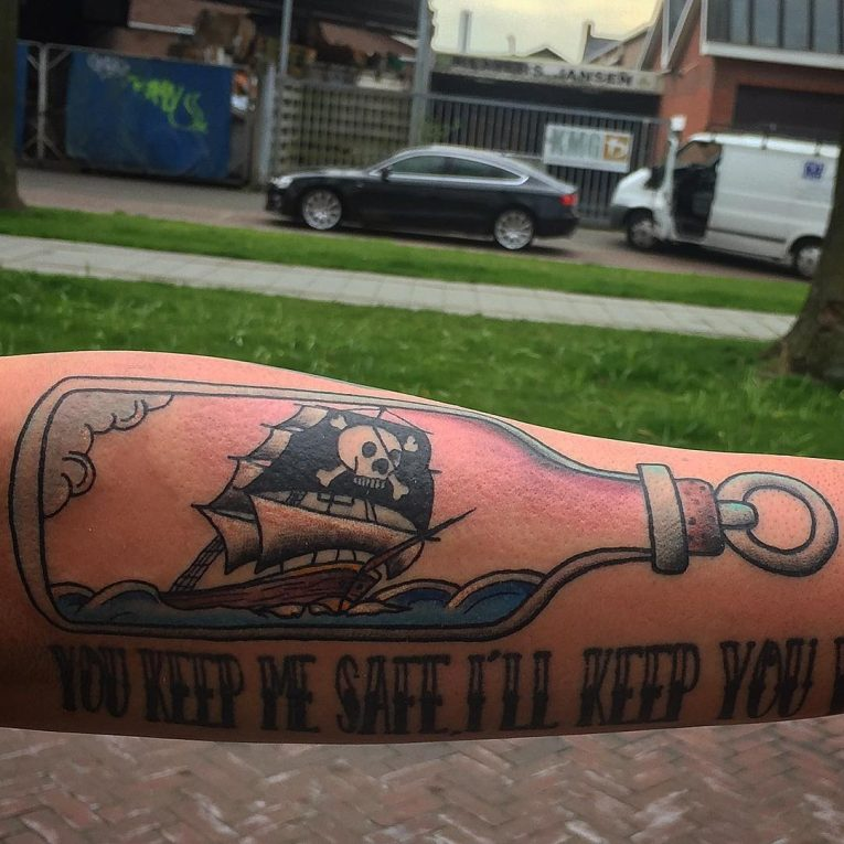 Pirate Ship Tattoo 90