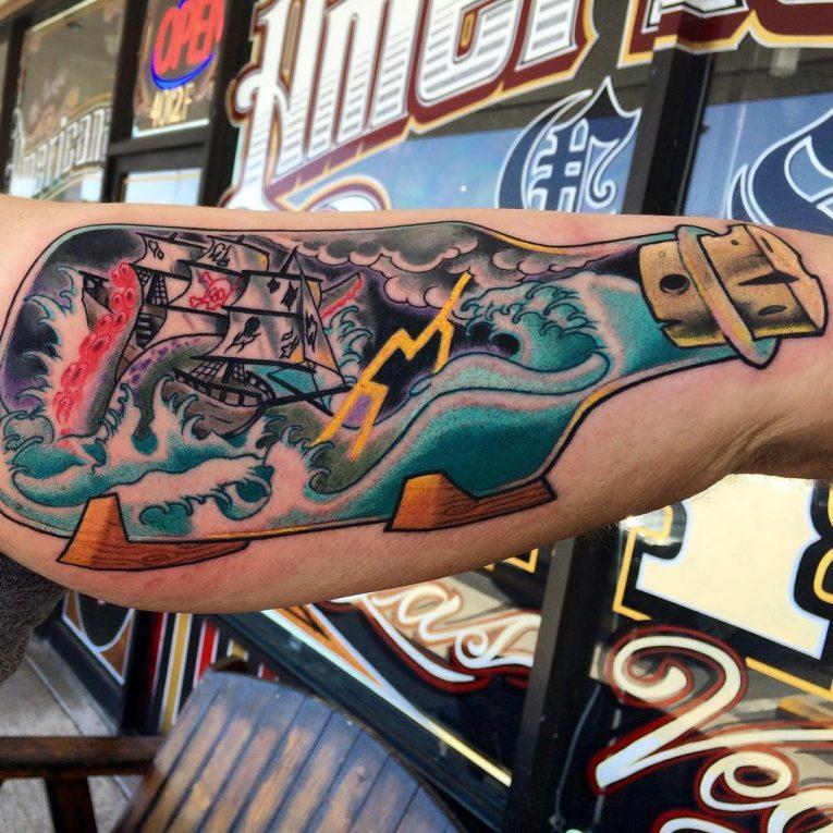Pirate Ship Tattoo 91