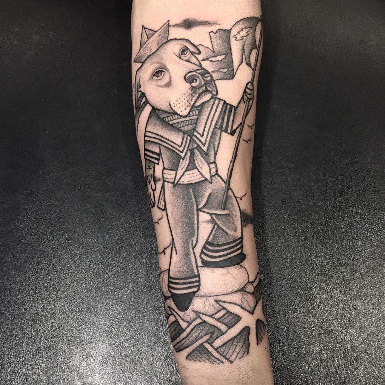 Pitbull Tattoo 69