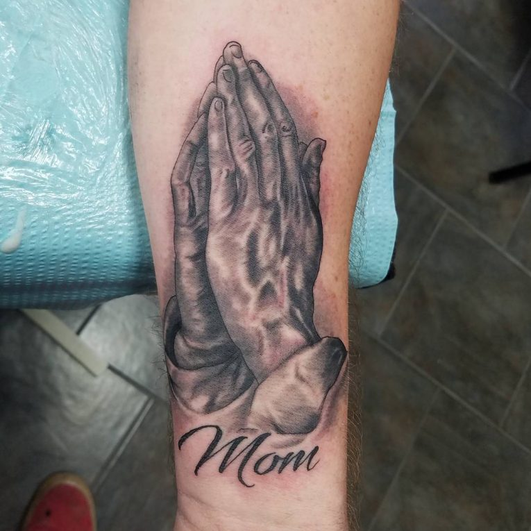 Praying Hands Tattoo 61