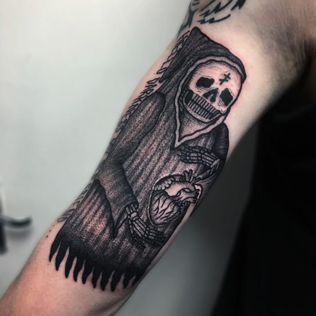 Prison Style Tattoo 52