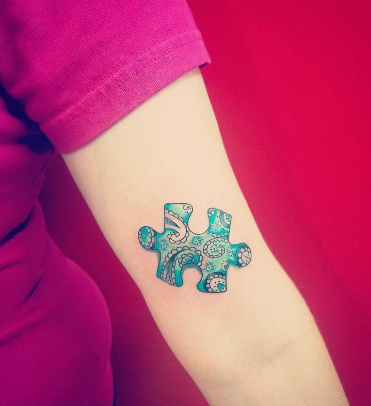 Puzzle Pieces Tattoo 68