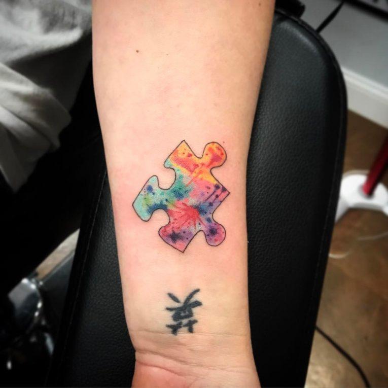 Puzzle Pieces Tattoo 77