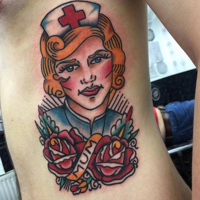Rib Tattoo 57