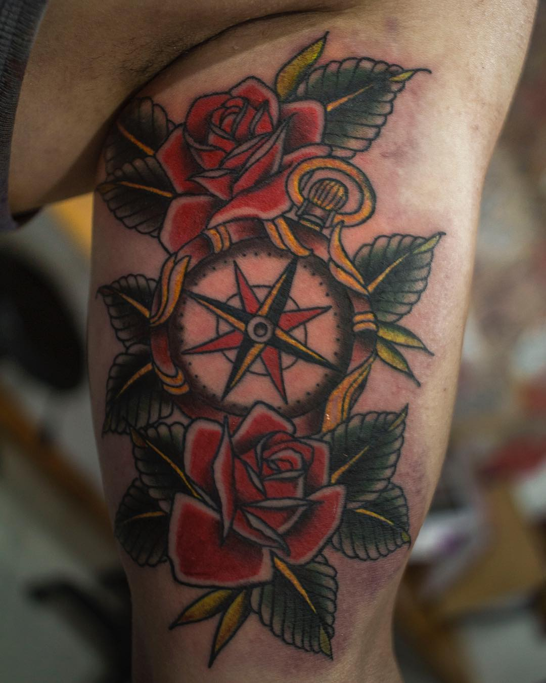 75 rose and compass tattoo designs meanings choose for Washing a new tattoo