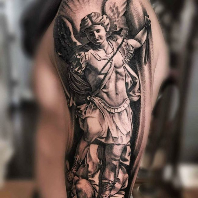 Saint Michael Tattoo 77
