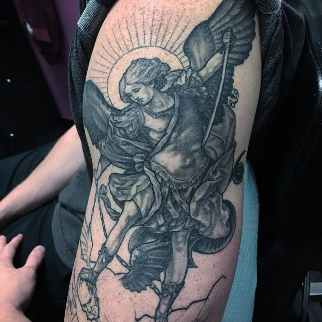 Saint Michael Tattoo 80