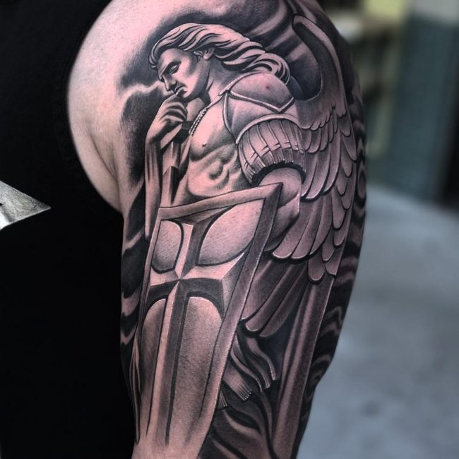 Saint Michael Tattoo 85