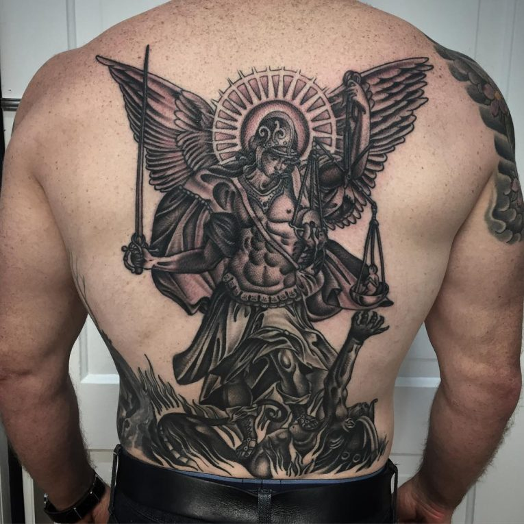 Saint Michael Tattoo 89