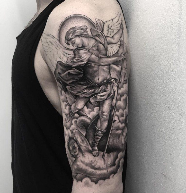 Saint Michael Tattoo 90