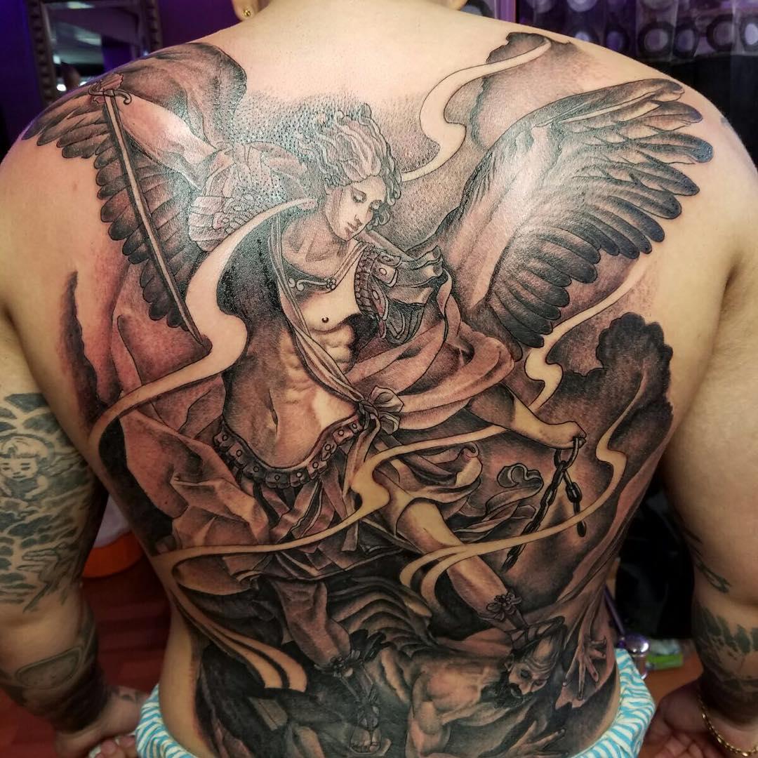 95+ Best Saint Michael Tattoos Designs & Meanings (2019)