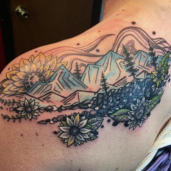 Shoulder Blade Tattoo 35