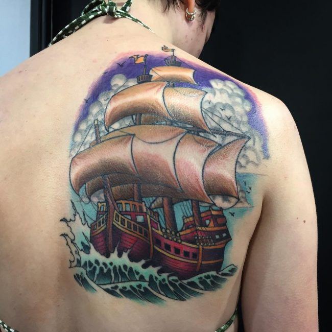 Shoulder Blade Tattoo 36