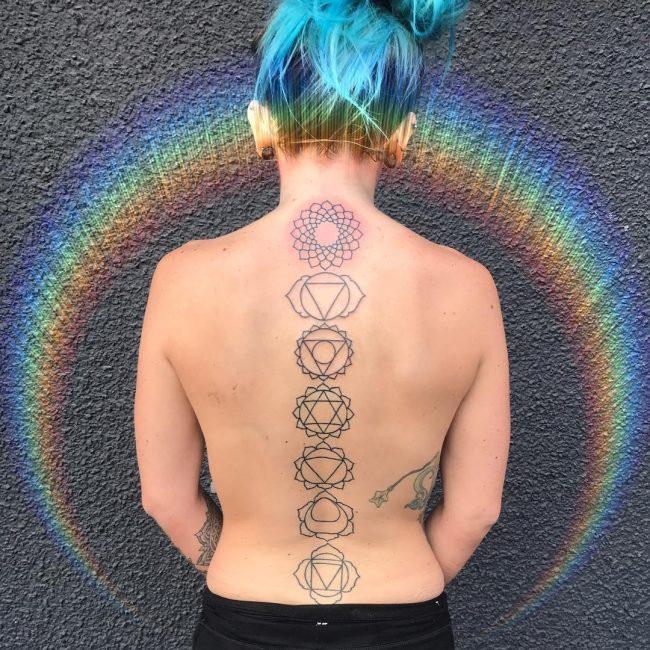 Spine Tattoo 57