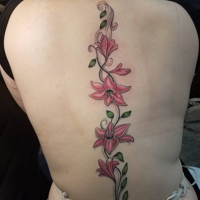 Spine Tattoo 58