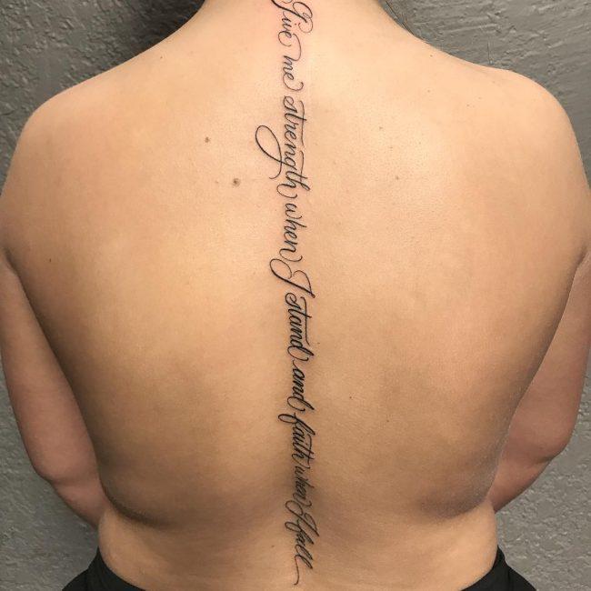 Spine Tattoo 59