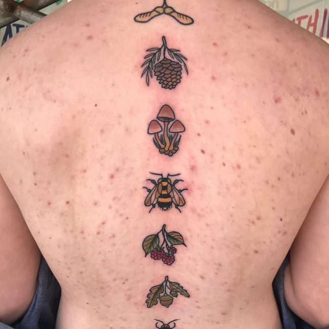 Spine Tattoo 60