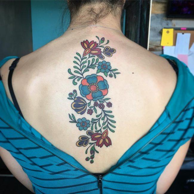 Spine Tattoo 61