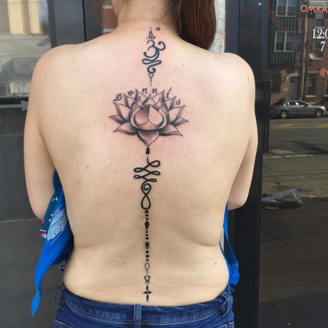 Spine Tattoo 64