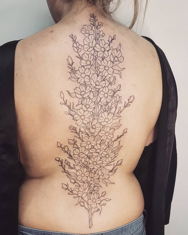 Spine Tattoo 72