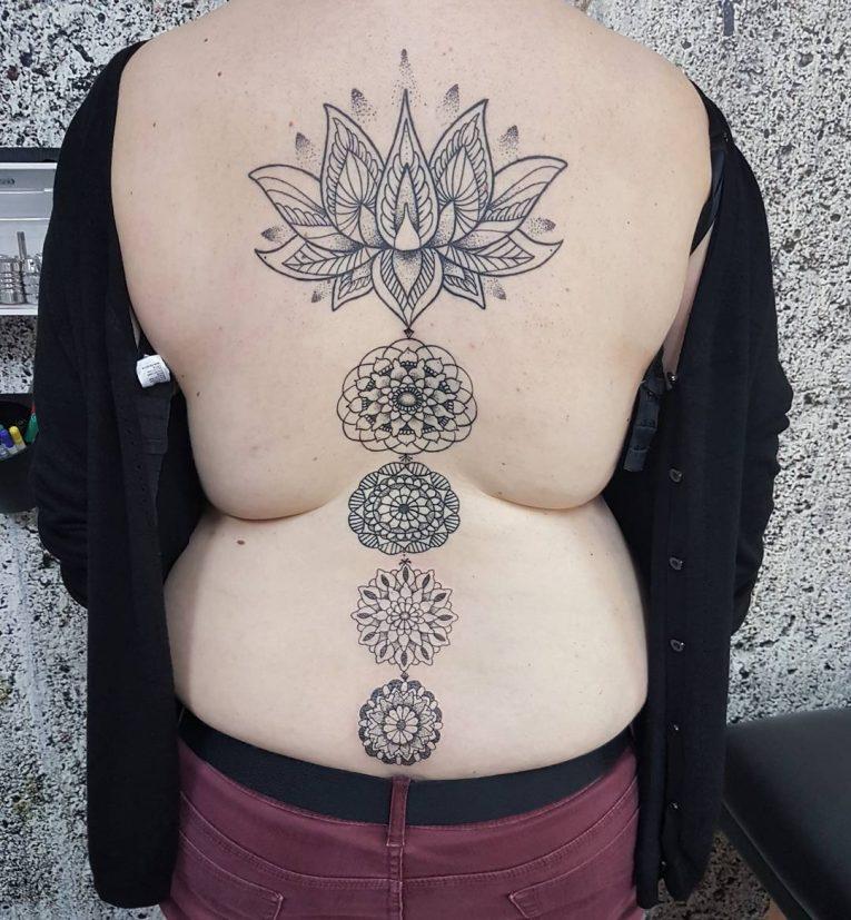 Spine Tattoo 76