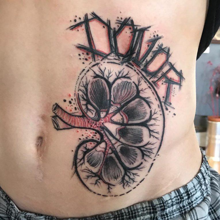 Stomach Tattoo 67