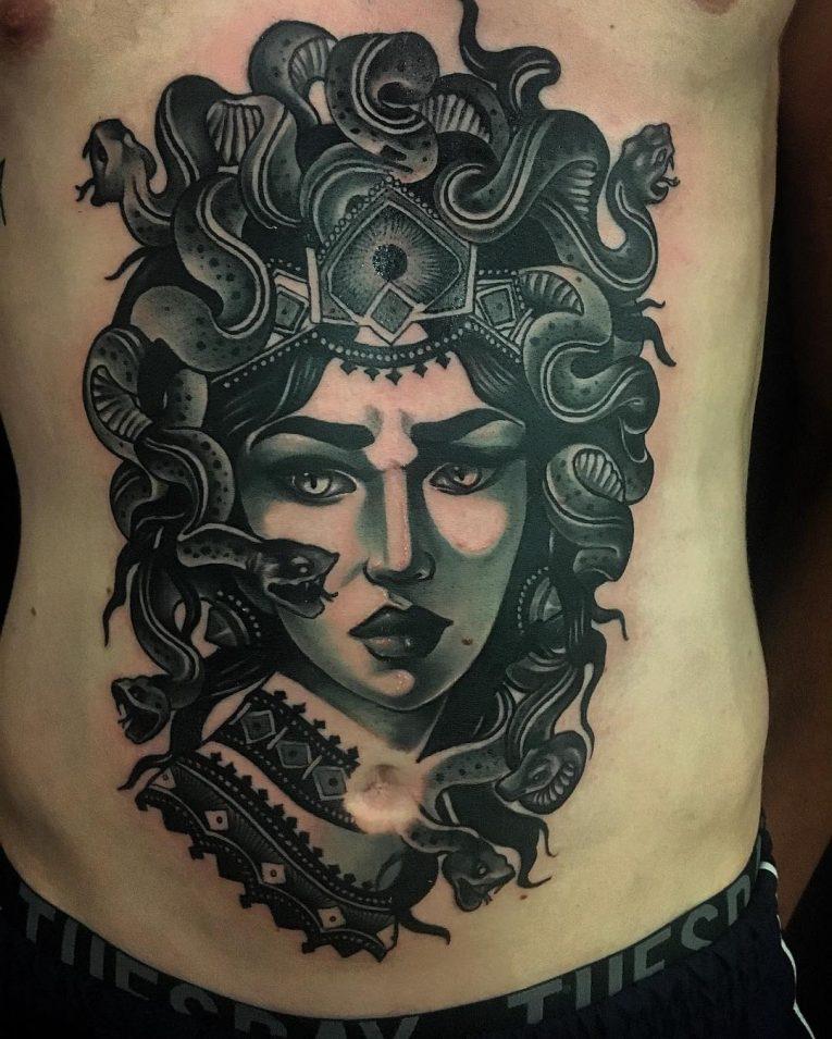 Stomach Tattoo 77